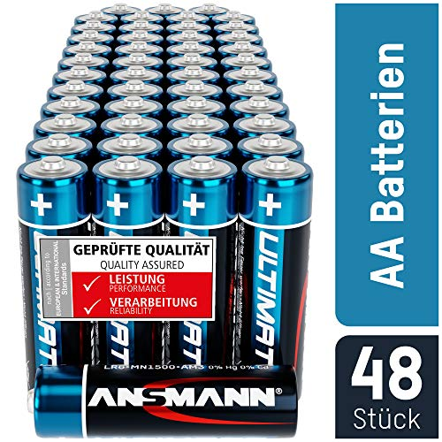 ANSMANN Batterien AA 48 Stück - Alkaline Mignon Batterie ideal für Lichterkette, LED Taschenlampe,...