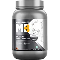 MuscleBlaze Biozyme Whey Protein (1 Kg, Ice Cream Chocolate)