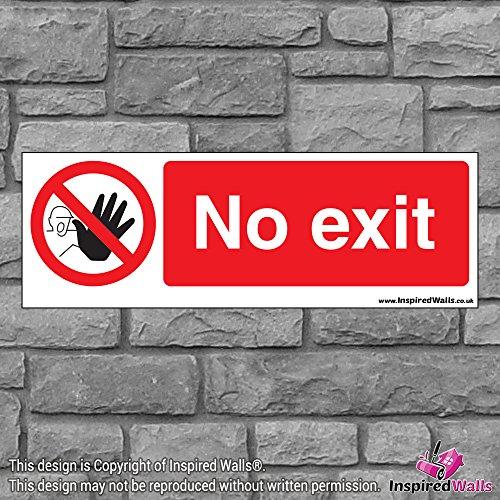 2x No Exit 4?Gesundheit & Sicherheit Warnung Verbot Schild Aufkleber -