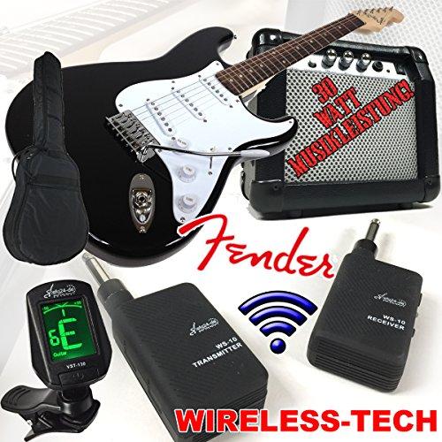fender-squier-bullet-strat-chitarra-elettrica-nero-wireless-con-30-w-amplificatore-e-sky-plug-wirele