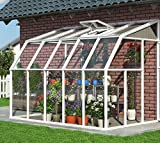 RION Kunststoff Anlehngewächshaus, Wintergarten Sun Room 38//Maße: 510x201x247 cm (TxBxH)//Wintergewächshaus mit Dachfenster