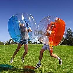 Bola de Parachoques, Burbuja Soccer Boll Bubble Hinchable PVC Transparente Portátil al Aire Libre Activo Los Adultos los Niños Pueden Utilizar ( Azul )