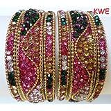 Tyagi Craft Bollywood Wedding Crystal Bangles Asian Jewellery Indian Bangle Kada Bracelet