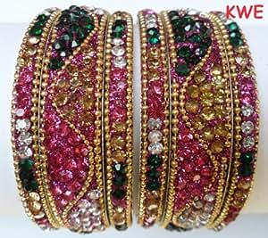 Tyagi Craft Indian Bollywood Wedding Crystal Bangles Asian Jewellery Bangle Bracelets Kada