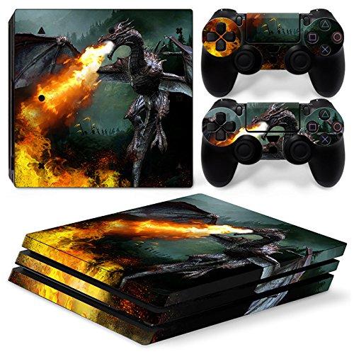 46 North Design Ps4 Pro Playstation 4 Pro Pegatinas De La Consola Dragon Fire + 2 Pegatinas Del Controlador 61  2By4bCFbL
