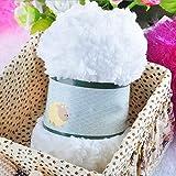 display08 Chenille-Strickwolle, Wollgarn, warm und weich, für Handtücher, Pullover, zum Selbermachen weiß