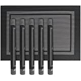 Placemats, BeFunky Heat-Resistant Placemats Stain Resistant Anti-Skid Washable PVC Table Mats Woven Vinyl Placemats (Set Of 6) (Black)
