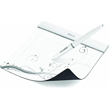 Trust Flex Graphics Tablet with Ultra-Thin Design and Ergonomic Wireless Pen - 6 x 4.6 Inches