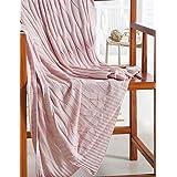 """100% poliéster suave manta de cama manta cómoda manta acurrucarse para sofá y cama, 100% algodón y poliéster, verde claro, w70"""" x l79"""""""