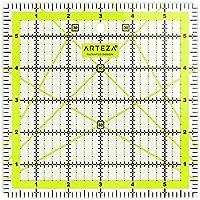 Arteza acrílico Quilters regla–6x 6inch–double-colored líneas de cuadrícula
