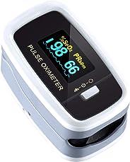 Mpow Pulsossimetro, Saturimetro da dito Display OLED, 4 Girevoli Direzioni e 5 Luminosità Regolabili, Letture Immediate e Con