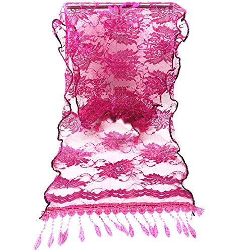 BHYDRY Schal Zartes Elegant Damen Lange Wrap Schal Quaste Schal Spitze UmschlagtüCher Schals Gesichtsschal Kopftuch