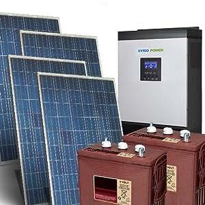Kit Casa Solare Pro 6Kw 48V Impianto fotovoltaico Stand-Alone Isola