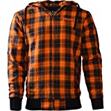 King Kerosin Biker Hoodie Kevlar Orange Check XXL