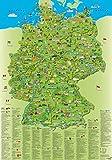 Illustrierte Deutschlandkarte: Erlebniskarte