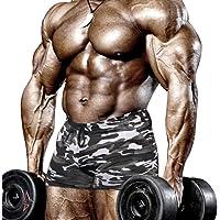 Muscle Alive Uomo Stretto Bodybuilding Allenarsi 4 Pollici Pantaloncini Fitness Palestra Esercizio Sportivo