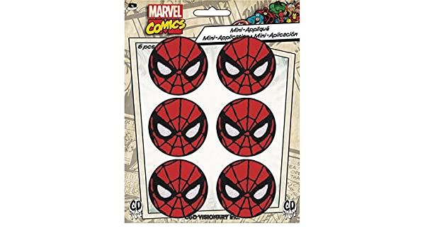 "6 MARVEL COMICS SPIDERMAN Logo Embroidered iron on Patch 1 5//8/"" NEW set of 6"