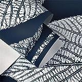 ADN-7 Moderne Einfache 3D Blatt Tapete Blau Weiße Dekoration Schlafzimmer TV Wand Wohnzimmer-53 cm (W) * 10 M (L)