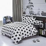 MIAORUI Cuatro grupos de cuatro conjuntos de ropa de cama, ropa de cama de europeos y americanos, en blanco y negro de personalidad,Trompeta