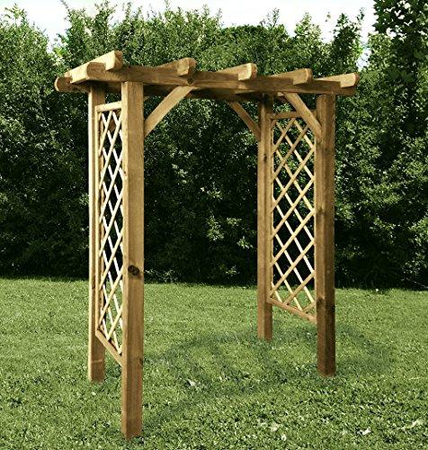 G&C Pergola für Kletterpflanzen – imprägniertes Holz – Maße: h237 x 205 x 85 cm