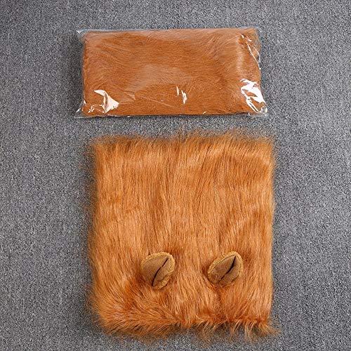 Mimagogo Haustier-Kostüm Hund Lion Perücken Mane Haar Schal Kleidung für ()