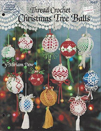 Thread crochet Christmas tree balls (Christmas Crochet Tree)