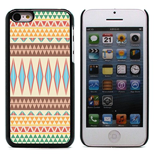 Graphic4You COLORFUL TRIBAL Muster Harte Hülle Case Tasche Schutzhülle für Apple iPhone 5C Design #6