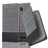 Cadorabo Book Case works with Motorola MOTO Z2 PLAY in GREY
