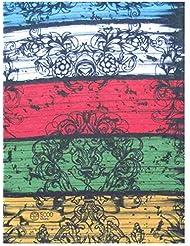 Braga para el cuello, pañuelo de microfibra multifunción, diseño de raya multicolor