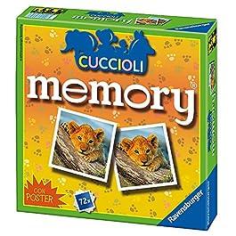 Ravensburger 21188 Memory Versione Cuccioli, Gioco Memory, 72 Tessere, età Consigliata 4+