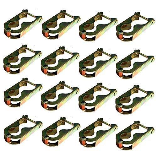 Andreas Dell Trampolin 16 x Klammern Befestigungsklammern Befestigung für Netz 8 Stangen