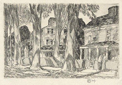 Das Museum Outlet-Sonnenlicht Village Street, 1925-A3Poster
