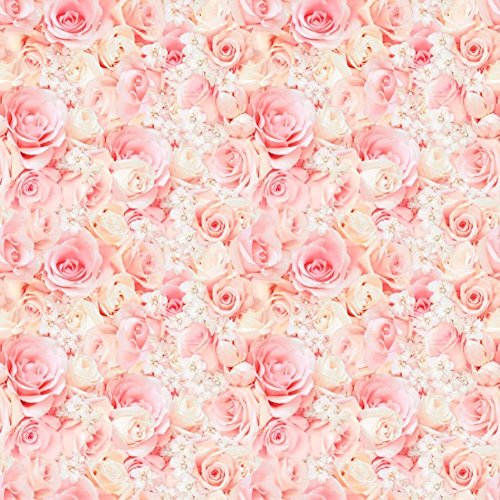Flower wrapping paper amazon pink rose wrapping paper 5 meters mightylinksfo