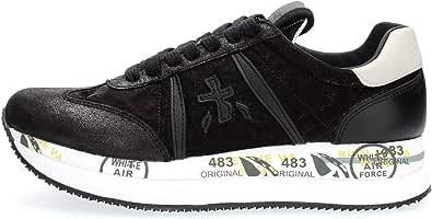 PREMIATA Scarpe Sneakers Donna Conny 4821 Pelle Nera