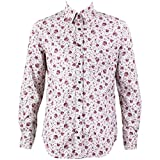 Loud Originals Regular Fit camisa de manga larga–pequeño morado flores en color blanco