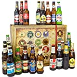 24 Biere der Welt | Bier aus aller Welt | Geschenk zu Valentinstag Ehemann