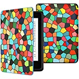 MoKo Case for Kindle Paperwhite, Premium Thinnest and Lightest Leather Cover with Auto Wake / Sleep for Amazon All-New Kindle Paperwhite (Fits All 2012, 2013 and 2015 Versions), Stained Glass
