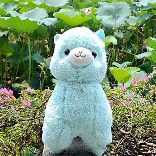 lzpoyaya Weiche Alpacasso Spielzeug Puppen, Schaf Alpaka Plüschtiere, Riesen Kuscheltiere Kinder 1 stück (Blau) 45cm