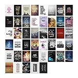 45er Postkarten Set mit Sprüchen von VISUAL STATEMENTS® / Hochwertige Spruchkarten / 350g Bilderdruckkarton / 12 x 17,5 cm (XXL) / 45 verschiedene Motive / 45er Set