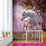 Magisches Einhorn & Fohlen Wandbild Phantasie Foto-Tapete Mädchen Schlafzimmer Dekor Erhältlich in 8 Größen Klein Digital