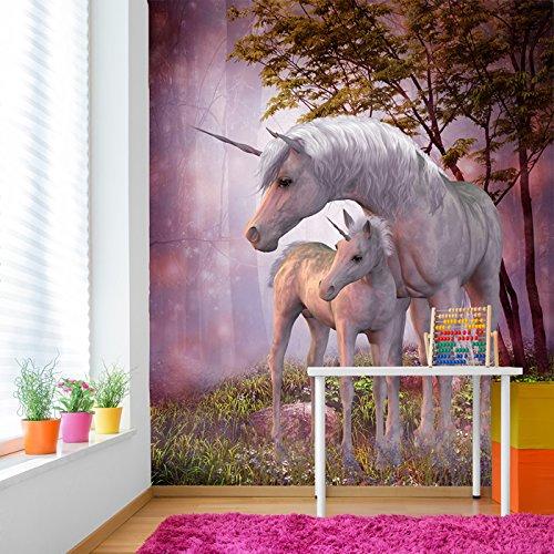 Magisches Einhorn & Fohlen Wandbild Phantasie Foto-Tapete Mädchen Schlafzimmer Dekor Erhältlich in 8 Größen Klein (Digital Dekor)