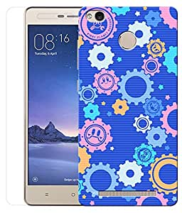 Indiashopers Combo of Colourfull Abstract HD UV Printed Mobile Back Cover and Tempered Glass For Xiaomi Redmi 3s Prime
