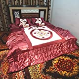 Satin Onion Color Wedding Bedding Set 8 ...