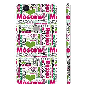 Google Nexus 6P Capital of Russia designer mobile hard shell case by Enthopia