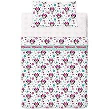 Disney Minnie Love And Spots - Juego de sábanas de 3 piezas para cama de 90 cm