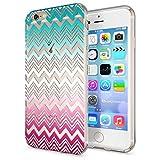 NALIA Handyhülle für Apple iPhone 6 6S, Slim Silikon Case Cover Crystal Schutz-Hülle Dünn Durchsichtig Etui Handy-Tasche Backcover Transparent Bumper für i-Phone 6 6S, Designs:Colorful Lines