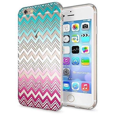 Apple iPhone 6 6S Hülle Handyhülle von NICA, Slim Silikon Case Cover Crystal Schutzhülle Dünn Durchsichtig, Etui Handy-Tasche Backcover Transparent Bumper für i-Phone 6 6S, Designs:Colorful Lines