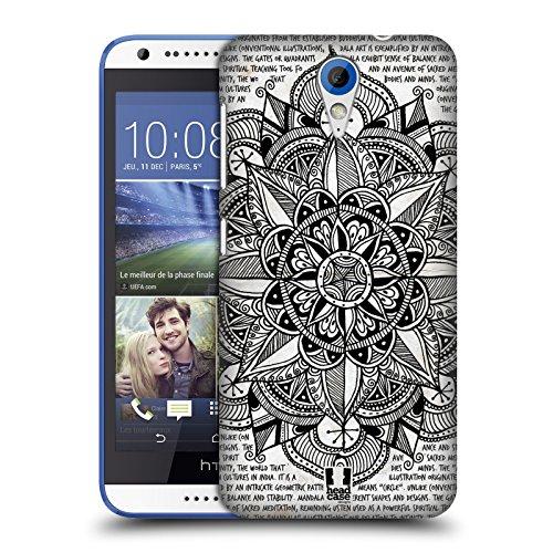 Head Case Designs Papier Mandala Doodle Ruckseite Hülle für HTC Desire 620/620 Dual SIM