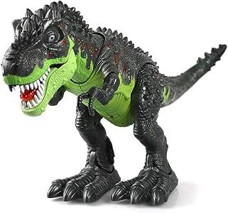 Dinosaurier, KINGBOT Electronic Dinosaurier, Spielzeug, Walking Dinosaurier mit Blitzen und Tönen für Jungen