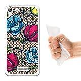 WoowCase Wiko Selfy 4G Hülle, Handyhülle Silikon für [ Wiko Selfy 4G ] Mehrfarbige Blumen 2 Handytasche Handy Cover Case Schutzhülle Flexible TPU - Transparent